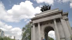 Wellington Arch. Hyde Park Corner, London - 1080HD - stock footage