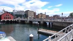 Boston Tea Party Museum Establishing Shot Stock Footage