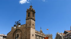 Church in the Historical Center of Valencia Stock Footage