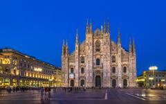 Milan cathedral, Duomo di Milano, Lombardy landmark, Italy Stock Photos