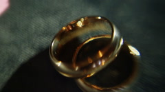 elegance tradition golden wedding rings - stock footage