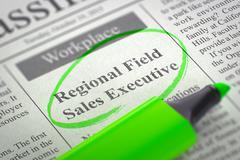 We're Hiring Regional Field Sales Executive Stock Illustration