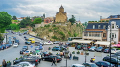 Traffic in Tbilisi Stock Footage