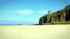 Beach at Downhill, Northern Ireland Stock Footage
