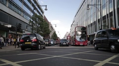 Traffic on Oxford Street. London, England - 1080HD - stock footage