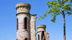 Dungannon Castle Ruins, Northern Ireland Stock Footage