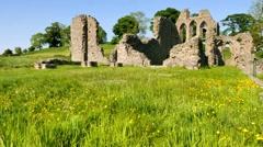 Inch Abbey ruin, Northern Ireland Stock Footage