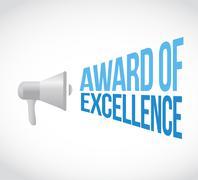 Award of excellence megaphone message Stock Illustration