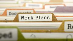 Work Plans on Business Folder in Catalog - stock illustration