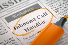 Job Opening Inbound Call Handler Stock Illustration