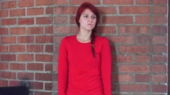 Bored And Unhappy Teen Girl Waiting Stock Footage