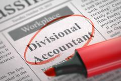 We are Hiring Divisional Accountant - stock illustration