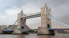Tower bridge in London in the evening light Stock Footage