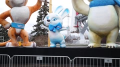 Symbols of Winter Olympics in Sochi 2014 in VDNH. Stock Footage