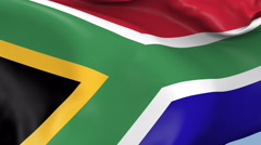 South Africa Waving Flag Background Loop Stock Footage
