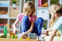 Play in kindergarten Stock Photos