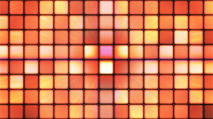 Broadcast Twinkling Hi-Tech Cubes, Orange, Abstract, Loopable, 4K Stock Footage
