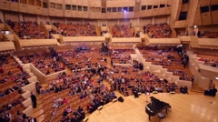 Concert hall after concert in House of Music, Svetlanov hall Stock Footage