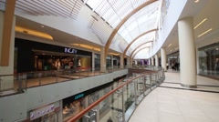 Modern Vegas mall is biggest shopping center in Moscow and Europe Stock Footage