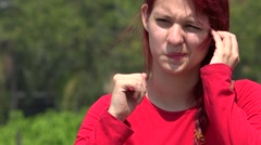 Unhappy Person And Apathetic Teen Stock Footage