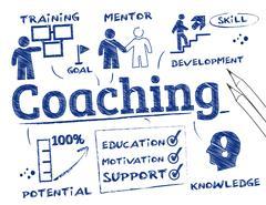Coaching Chart - stock illustration