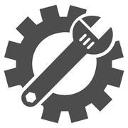 Mechanics Service Tools Flat Vector Icon - stock illustration