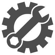 Configuration Tools Flat Vector Icon - stock illustration