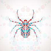 Abstract spider cartoon - stock illustration