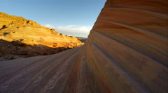 Hiking in Coyote Buttes North, The Wave Stock Footage