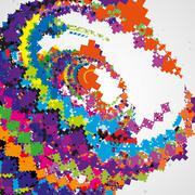 Futuristic abstract illustration - stock illustration
