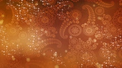 Wedding Motion Loopable Background, Creative orange BG with bubbles Stock Footage