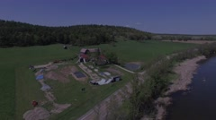 4k aerial scenic bmx dirt jump park Stock Footage