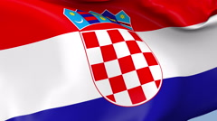Croatia Waving Flag Background Loop Stock Footage