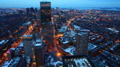 4K UltraHD Day to night timelapse of the Boston Skyline Stock Footage