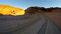Aerial view of Coyote Buttes North, The Wave Stock Footage