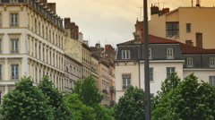 Lyon,France, Place Bellecour is the largest open square in Europe.ULTRA HD 4K Stock Footage