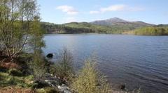Beautiful Scottish Loch Garry Scotland UK lake south of Fort Augustus pan - stock footage