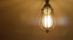 Retro Light Bulb Lighting Series Stock Footage