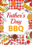 Fathers Day BBQ Stock Illustration