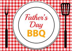 Fathers Day BBQ - stock illustration