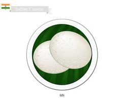 Idli or Traditional Indian Steamed Rice Cake - stock illustration
