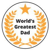 Worlds Greatest Dad label Stock Illustration