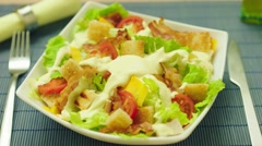 Cesar salad Stock Footage