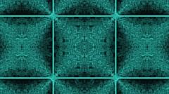 Abstract 3D Matrix Space Kaleidoscope Design Animation Stock Footage