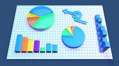 Business Chart animation - stock illustration