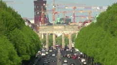 ULTRA HD 4K real time shot,aerial view from Berlin Victory Column - stock footage