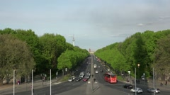 ULTRA HD 4K real time shot,aerial view from Berlin Victory Column Stock Footage