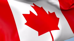 Canada Waving Flag Background Loop Stock Footage