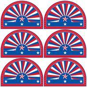 American patriotic symbol for design and decorate. - stock illustration