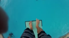 GoPro Flip Into Water - stock footage